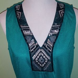 Large Sleeveless Open Back Studio Y Blouse Excelle